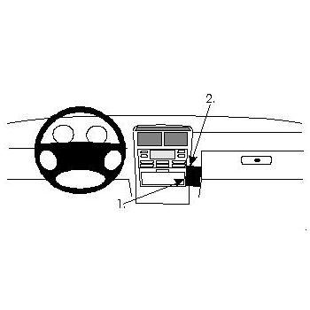 Brodit ProClip montážní konzole pro Lancia Kappa 95-00, na střed