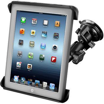 """RAM Mounts univerzální držák na tablet 9"""" až 10,1"""" do auta s extra silnou přísavkou na sklo, čelisťový, sestava RAM-B-166-TAB-LG"""