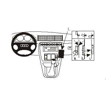 Brodit ProClip montážní konzole pro Audi A4/S4 Avant 95-99 /Audi A4/S4 Sedan 95-99, na střed