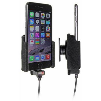 Brodit držák do auta na Apple iPhone 6/6s/7  bez pouzdra, se skrytým nabíjením, samet