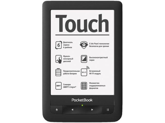 "obsah balení PocketBook 622 Touch, čtečka elektronických knih, 6"" E-ink displej, Black"
