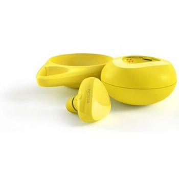Nokia Bluetooth Headset Luna BH-220W s bezdrátovou nabíječkou, žlutá