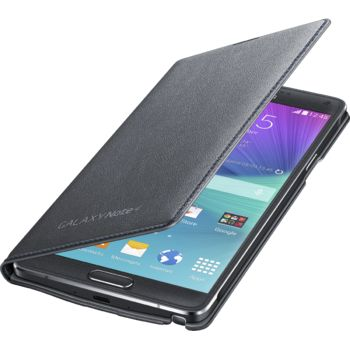 Samsung LED flipové pouzdro s kapsou EF-NN910BC pro Galaxy Note 4 (N910), černé