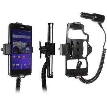 Brodit držák do auta na Sony Xperia Z2 bez pouzdra, s nabíjením z cig. zapalovače