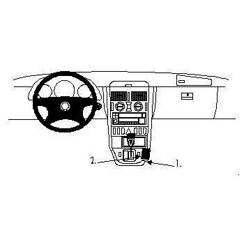 Brodit ProClip montážní konzole pro Mercedes Benz SLK-Class 97-04, na středový tunel