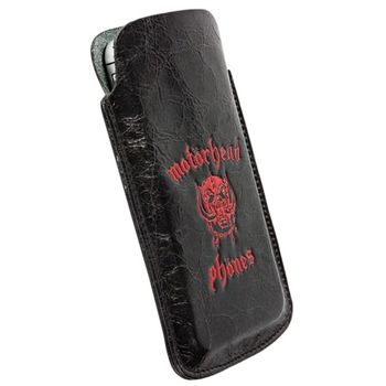 Motörheadphönes pouzdro Burner L Long - iPhone 5, Sony Xperia P/J  (černá/červená)