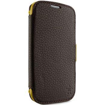 Belkin Premium Leather Folio pro Samsung Galaxy S 4, tmavě hnědá